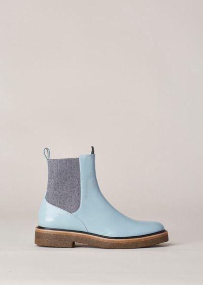 c638871b269 Dries Van Noten Pull On Chelsea Boot (Light Blue)