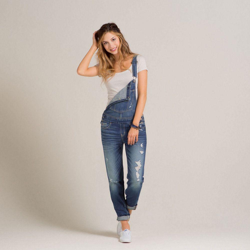 Girls Hollister Devin Boyfriend Overalls | Girls Jeans & Bottoms |  HollisterCo.com