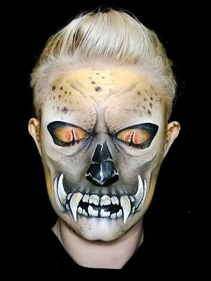 Creepy-Halloween-Makeup-By-Nikki-Shelley15__700 Freaky Facepaint - halloween face paint ideas scary