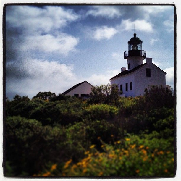 The old San Diego lighthouse.