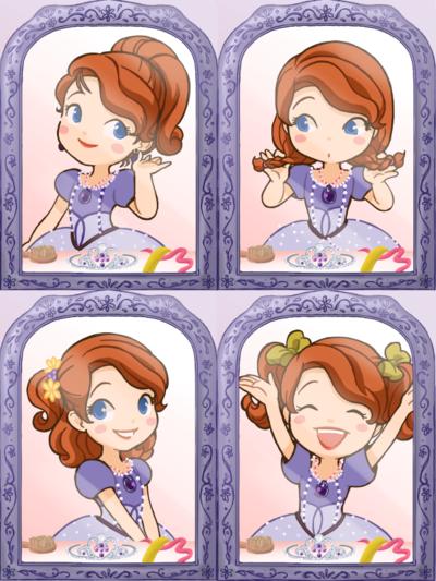 Change Hairstyle Sofia The First Disney Princess Drawings Disney Princess Sofia