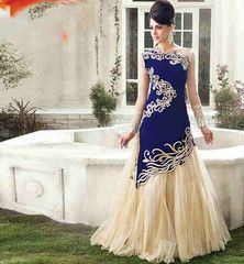 52f6dec04 GOWN DRESS PATTERNS PARTY WEAR MAXI DRESSES ONLINE INDIA 2015 INDIAN F –  Stylish Bazaar