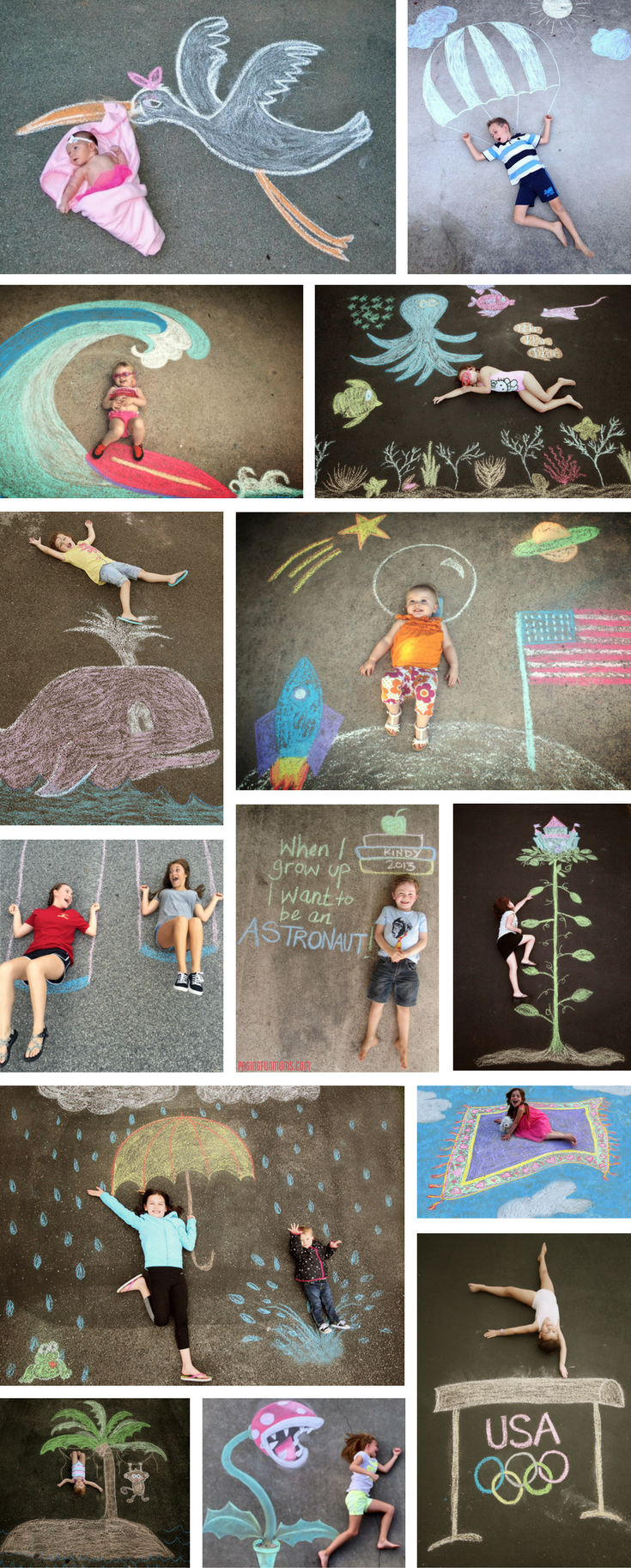 Photo of 101 Genius Sidewalk Chalk Ideas To Crush Summertime Boredom – what moms love