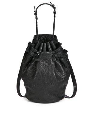 Alexander Go Drawstring Bag Bags Shoulder Hand Leather Bucket