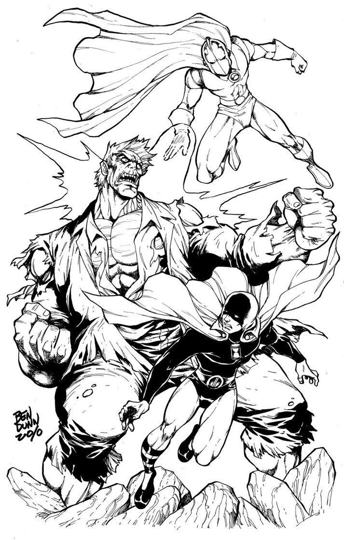 Hourman Dr Fate Vs Grundy Comic Book Artists Comic Books Art Dc Comics Characters
