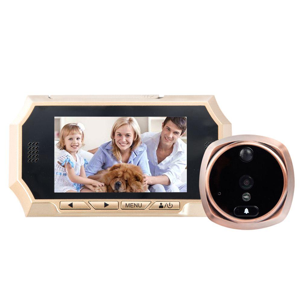 4.3 pollice LCD Porta Telefono 160 Gradi HD Visore di Peephole Visione Notturna Campanello Digitale di Colore Ir Automatico del Portello del Video anello