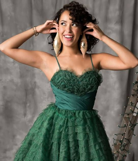 Unique Vintage 1950s Emerald Green Ruffled Tulle Sweetheart Cupcake Swing Dress Holiday Party Dresses Vintage Holiday Dress Holiday Dresses