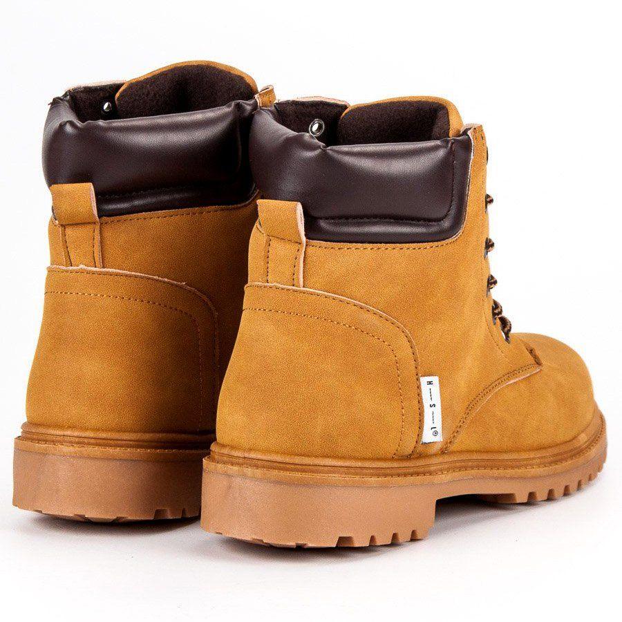 Trekkingowe Meskie Butymodne Brazowe Camelowe Trapery Ugg Boots Boots Uggs