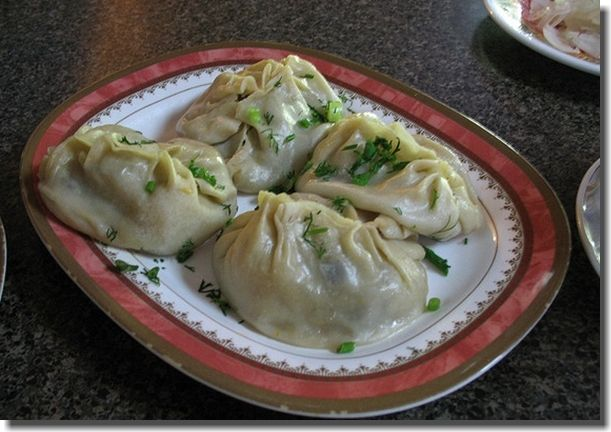 Manty in Kyrgyzstan. They are one of my favorite foods from back home.