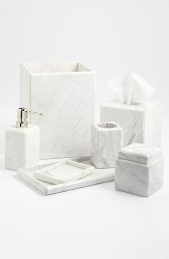 Waterworks Studio Luna White Marble Covered Jar Online Only