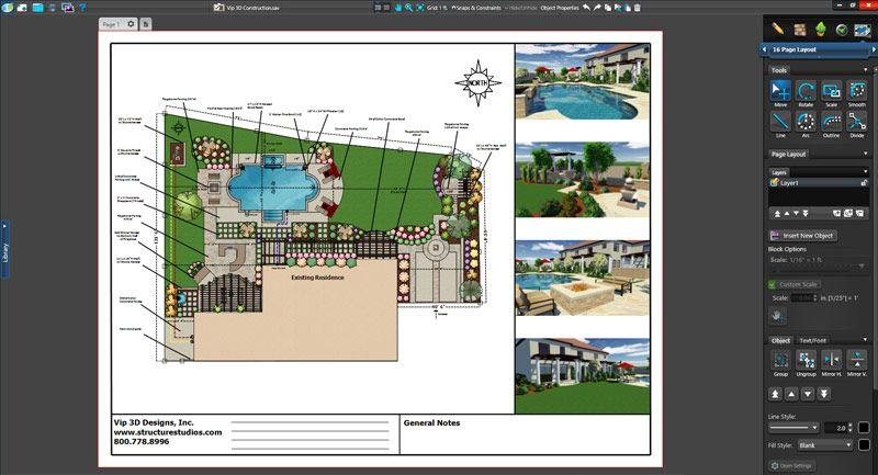 Vip3d Landscape Design Software Construction Plan