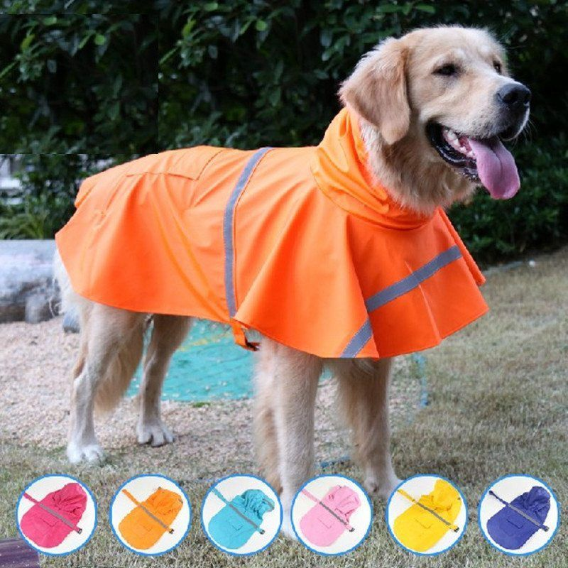 Large Size Dog Raincoat Pet Jacket Dog Clothes Waterproof