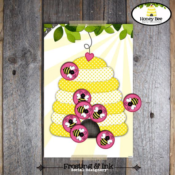 Pin The Bee On Hive Game