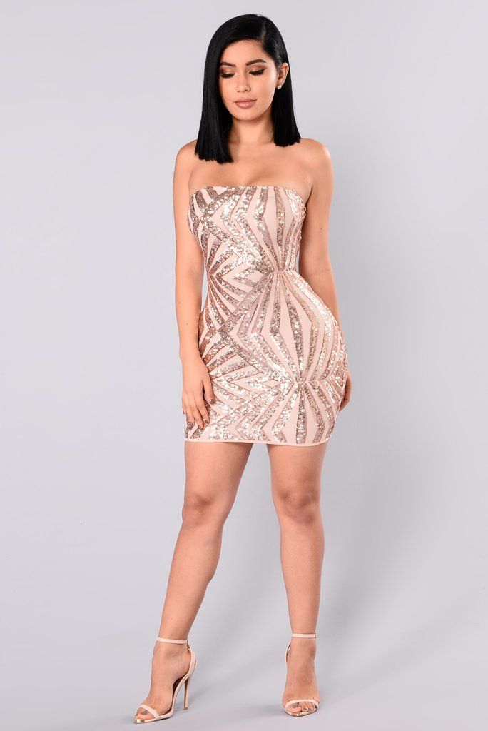 Hualong Sexy Sequin Mini Champagne Club Dress - Online Store for Women Sexy  Dresses. She s A Diva Sequin Dress - Rose Gold Nude 6748e9e4d79c