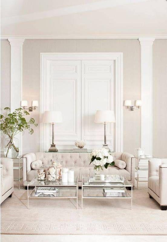 Best All White Room Ideas White Ivory Living Room | Living Room ...