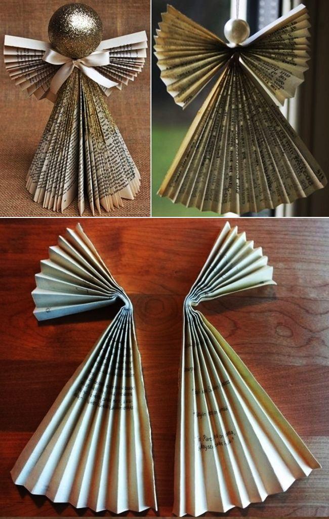 Angyalok újságpapírból és könyvből