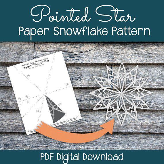 Pointed Star Paper Snowflake Pattern Pdf Digital Download