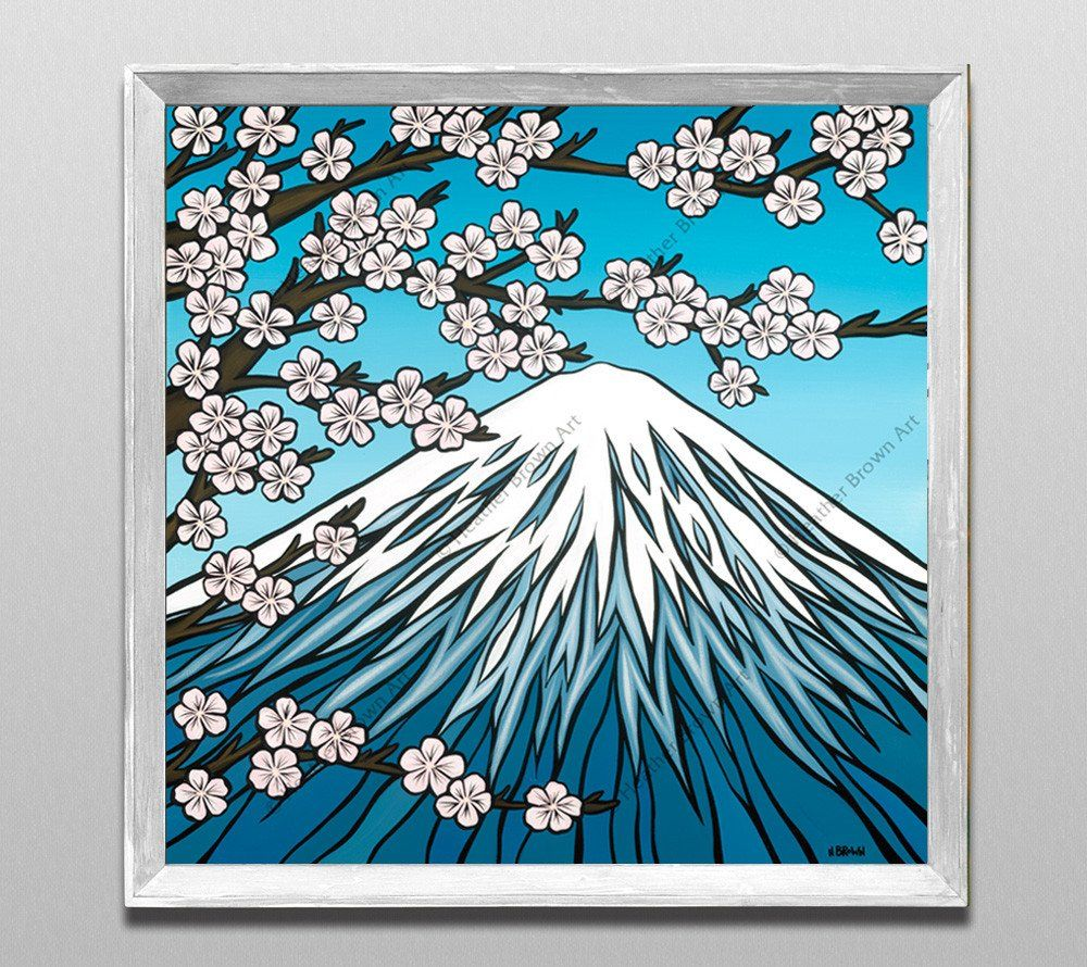 "Classic White Frame - Limited Edition ""Mt. Fuji"" by Heather Brown"