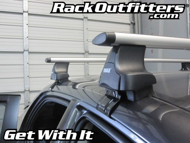 Toyota Corolla Thule Rapid Traverse Silver Aeroblade Base Roof Rack 09 13
