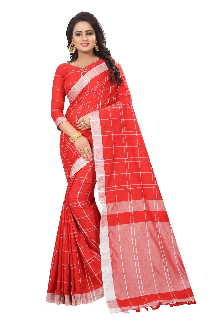 f86b3c2b0d We are Launching Designer Linen Chex saree To Oorder: 6354367995 Fabric  Details:- Cotton