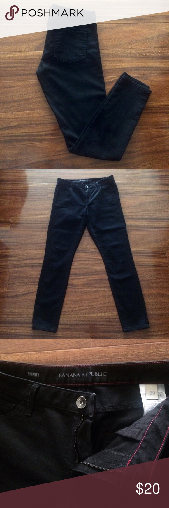 Banana Republic Skinny Jeans Black skinny jeans from Banana Republic, Perfect condition, worn once or twice and decided they were too big. Size 29. ✨ Banana Republic Jeans Skinny