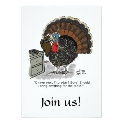 Funny and fun Thanksgiving invitation - invitations personalize - invitation card event