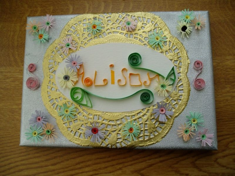Quilled canvas
