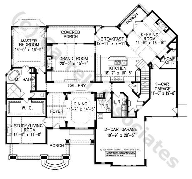 Keeping Room Craftsman Style House Plans Ranch House Plans How To Plan
