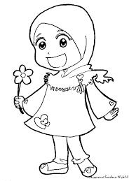 Gambar Kartun Muslimah Untuk Mewarna Google Search Islamic Kids Activities Family Coloring Pages Preschool Coloring Pages