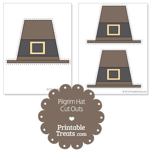 printable pilgrim hat cut outs from printabletreatscom