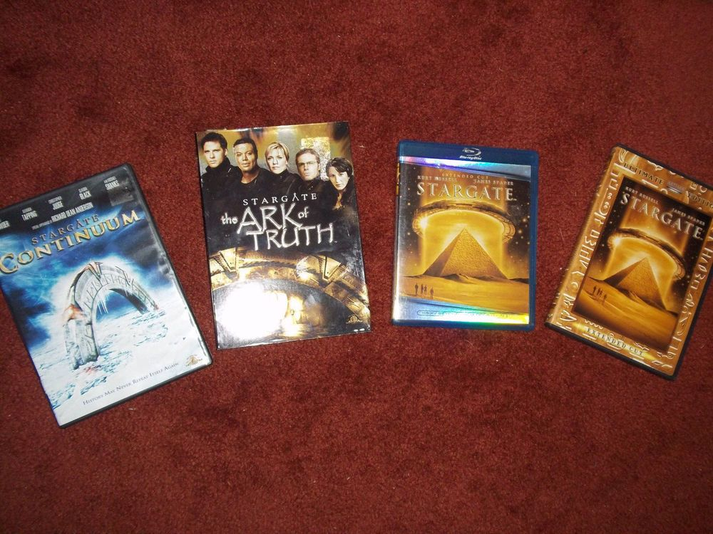 Lot of 4 Stargate Continuum Ark of Truth Blu-Ray dvds