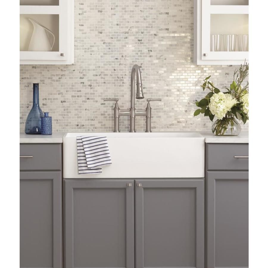 American Olean Genuine Stone Refined White 12 In X 12 In Polished Brick Marble Look Wall Tile Lowes Com Wall Tiles Grey Marble Kitchen Mosaic Flooring