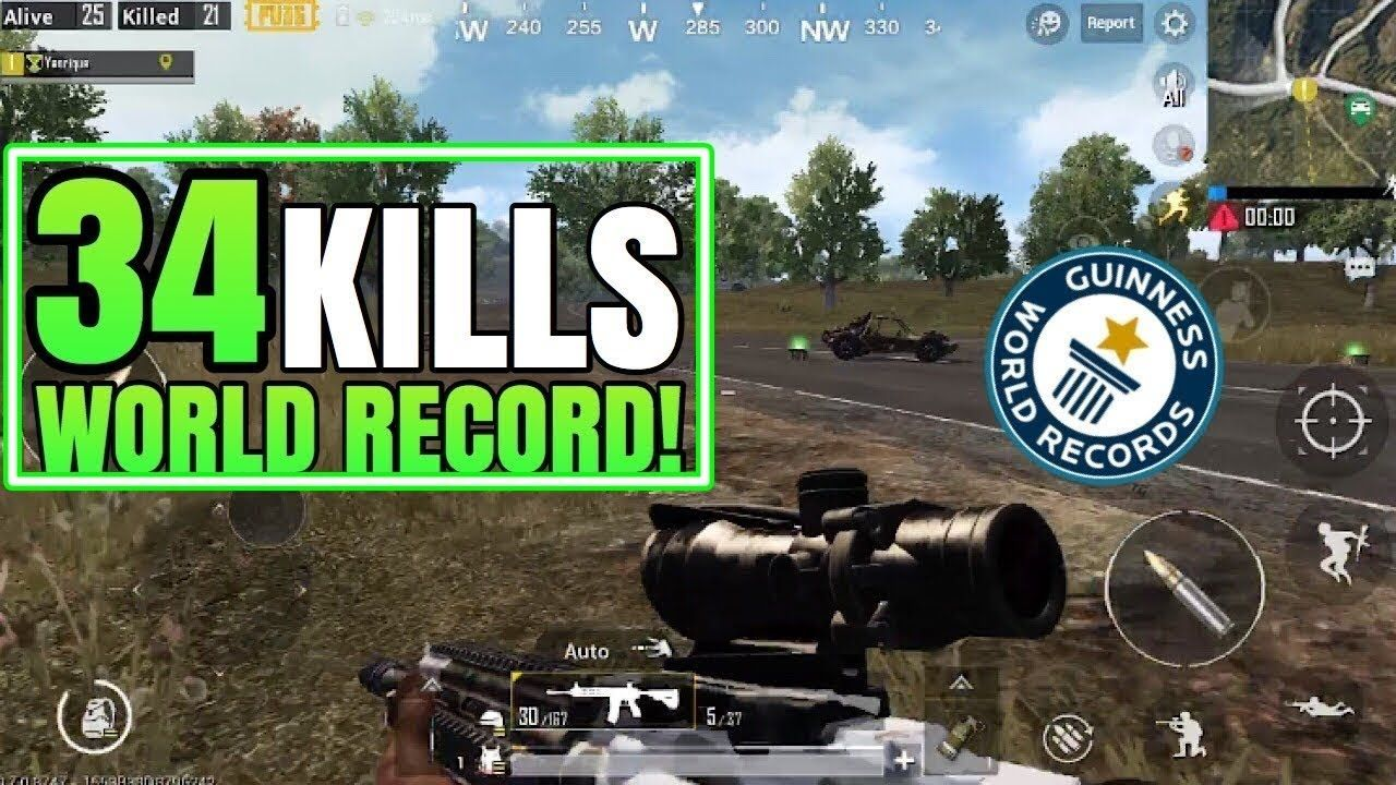 Top One 34 Kills World Record Fpp Solo Vs Squad Pubg Mobile Top - top one 34 kills world record fpp solo vs squad pubg mobile