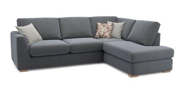 Eleanor Left Arm Facing Open End Corner Sofa Sherbet Dfs Corner Sofa Units Corner Sofa Blue Fabric Sofa