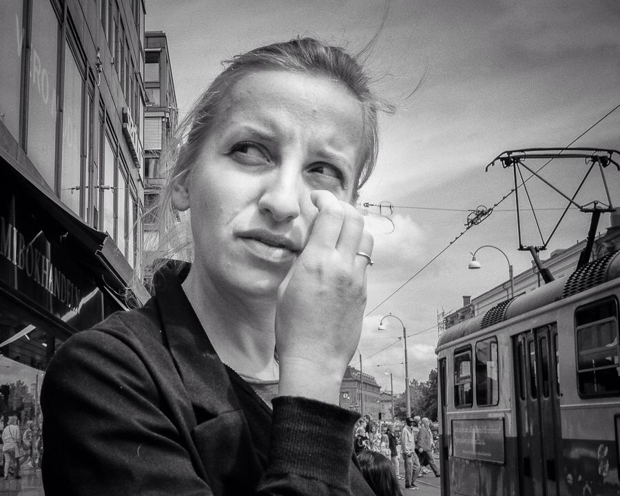 Street portrait from gothenburg street photography by swedish street