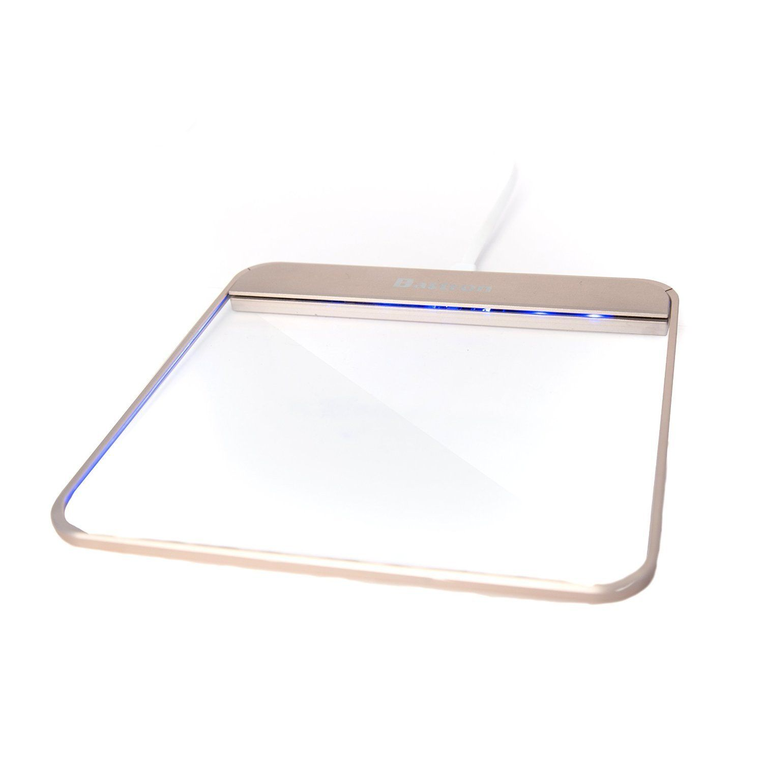BASTRON B8 WIRED GLASS TOUCHPAD WITH NUMBER PAD TRANSPARENT ...