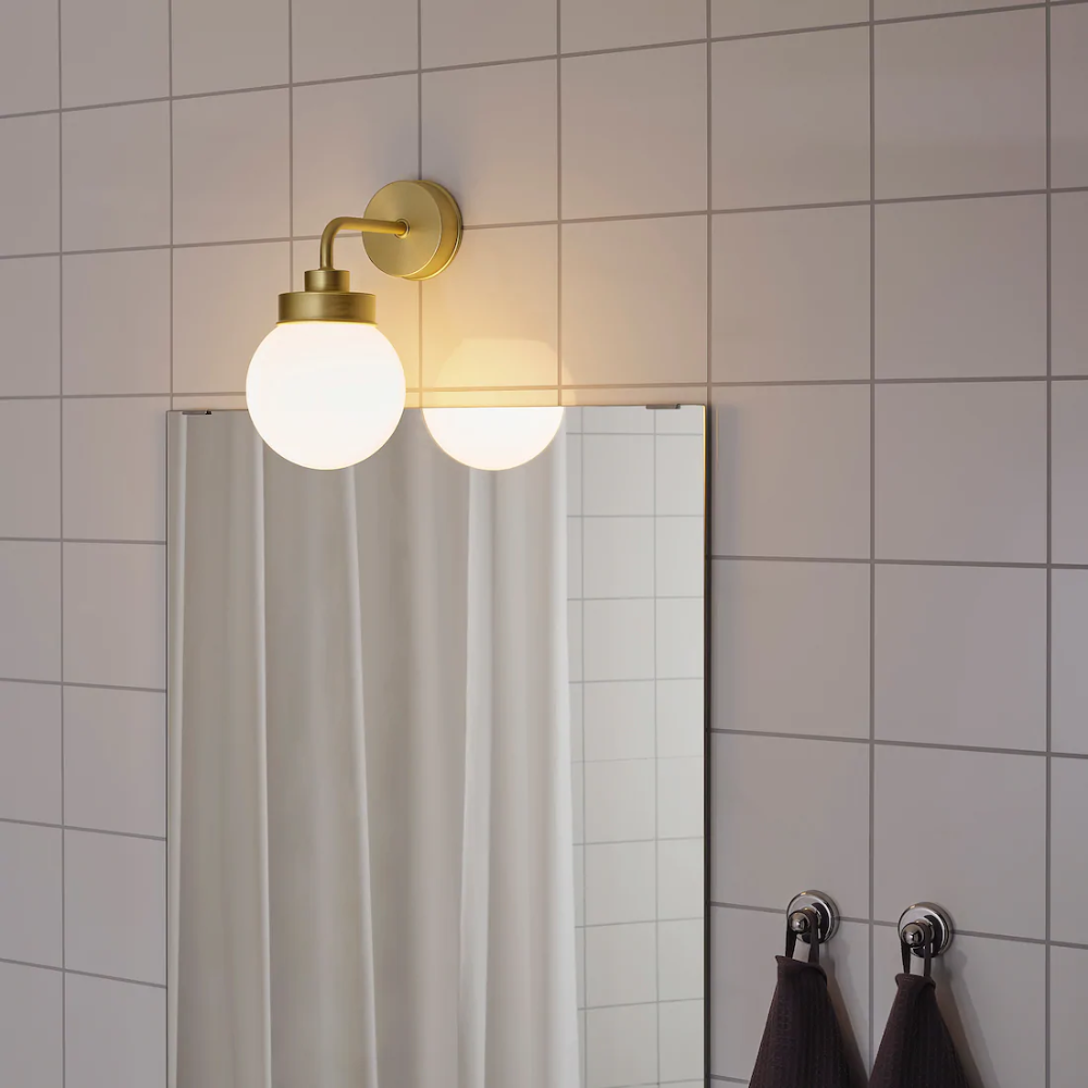 Frihult Wandleuchte Messingfarben Ikea Deutschland In 2020 Wandleuchte Badezimmerleuchten Messingfarben