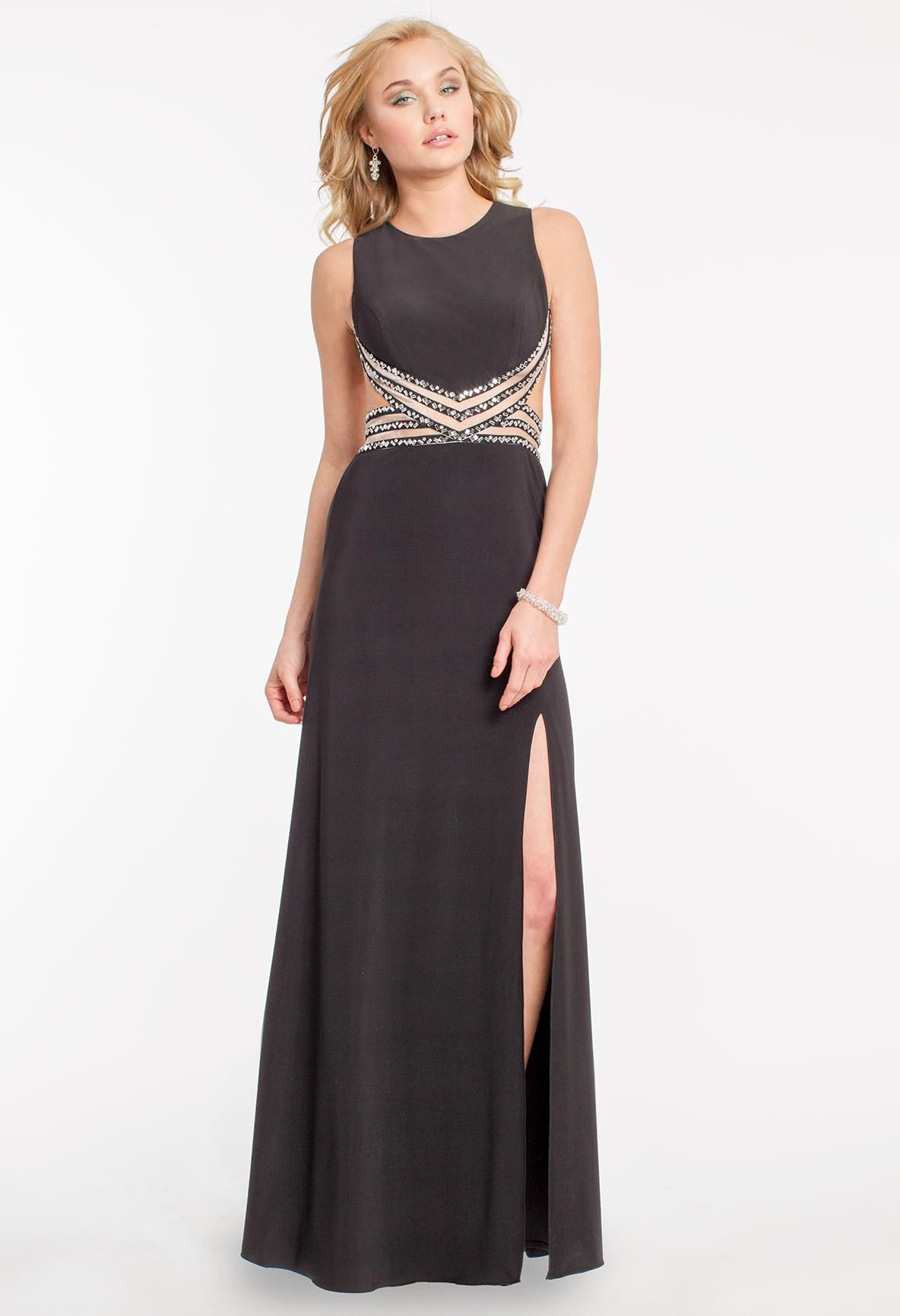 Beaded side cutout prom dress camillelavie clvprom prom dresses