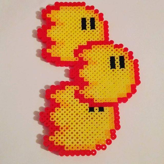 Fireballs - Mario Bros. perler beads by zooy.art | HAMA idéer ...
