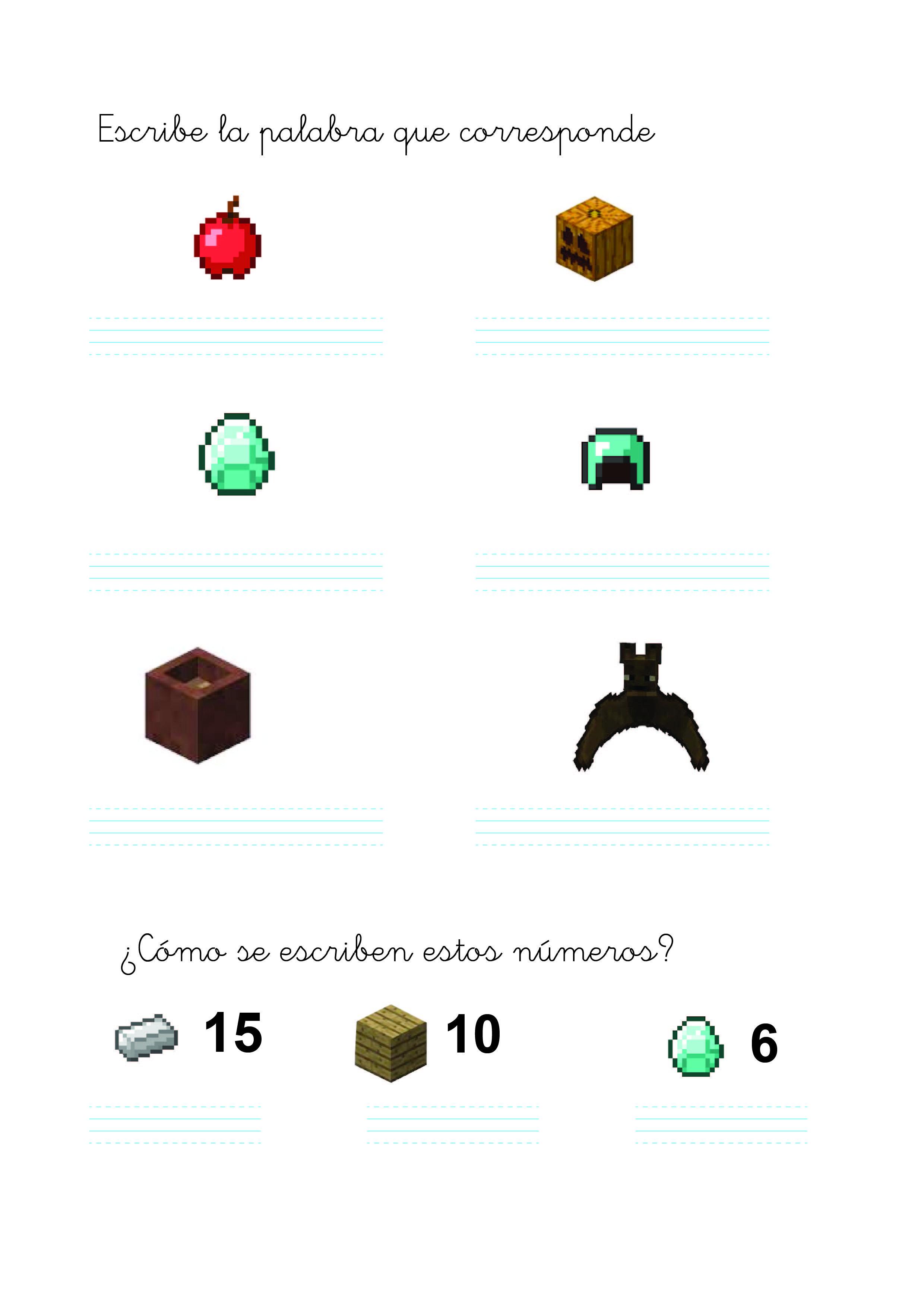 Pin On Tareas Inspiradas En Minecraft