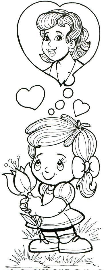 imagenes dia de la madre para colorear-dibujos-colorear-dia-de ...