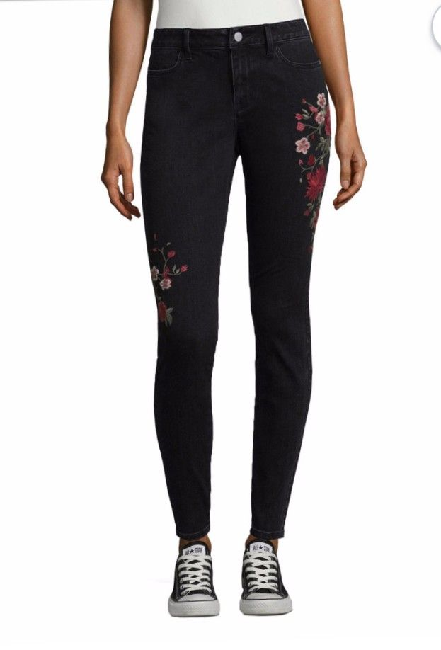 33cb0a95d8 A.N.A. embroidered jeans at JCPenney | Jeanz | Embroidered jeans ...