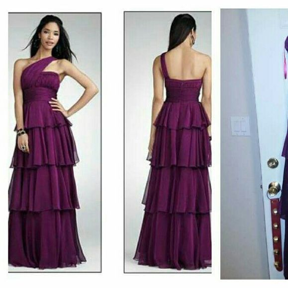 Jessica Simpson purple prom dress -worn once -size 13 -light dusting ...
