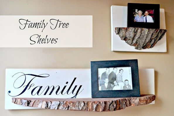 tree slice shelves and a giveaway, diy, home decor, shelving ideas