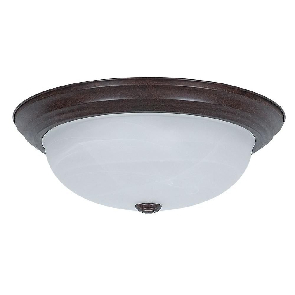 Sunset 3-Light Oil Rubbed Bronze Flushmount