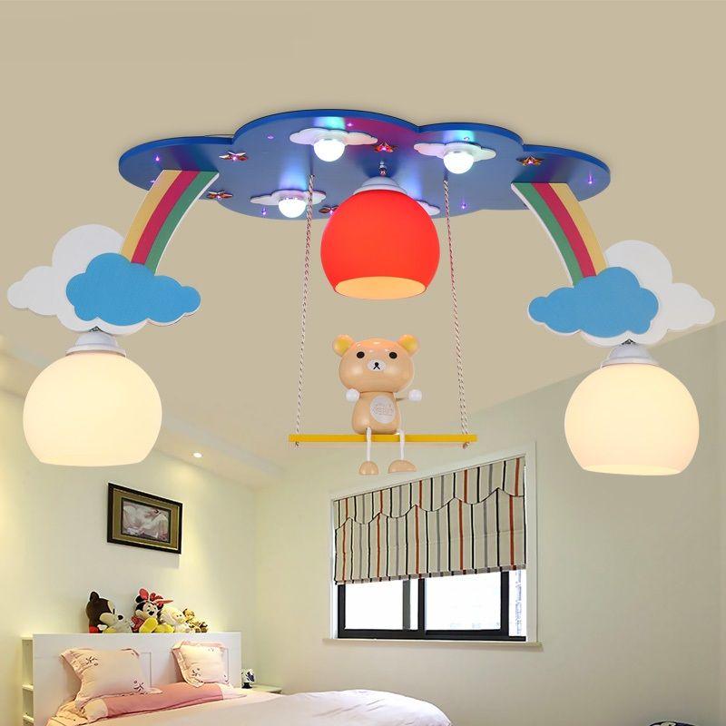 Children Bedroom Bedroom Led Ceiling Light Warm Boy Girl Eye Care