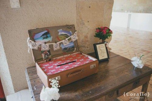 urne de mariage en forme de valise vintage annonces dentelle livre dor etc pinterest mariage vintage et google - Urne Valise Mariage