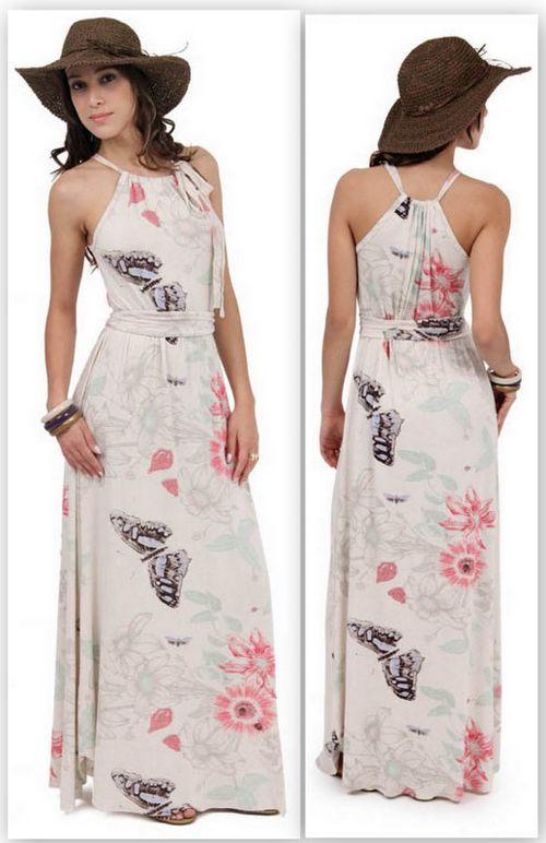 Vestido longo casual   palazos   Pinterest   Dresses, Maxi outfits y ...