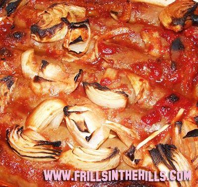 devilled sausages ||frills in the hills