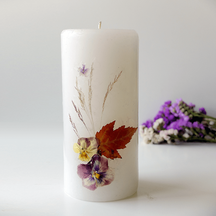 Pressed Flowers On Candles Dried Flowers Diy Dried Flowers